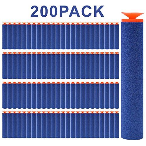 FUCAS Refill Darts 200PCS Universal Suction Darts for Nerf N-strike Elite