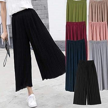 464a9b5999 Comaie Pantalones de Gasa para Mujer