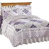 Wilmington Floral Patchwork Reversible Lightweight Quilt, Full/Queen