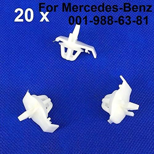 Fastener & Clip 20Pcs for Mercedes-Benz 001-988-63-81 Quarter Panel Moulding -