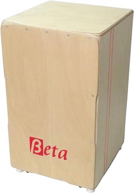 Cajón flamenco Beta Élite (color natural) - Caja flamenca de abedul profesional y afinable: Amazon.es: Instrumentos musicales