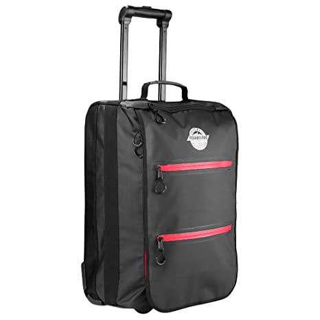 Amazon.com | Aquabourne Danube Water Resistant Hand Luggage Trolley Suitcase 54x36x20cm | Carry-Ons
