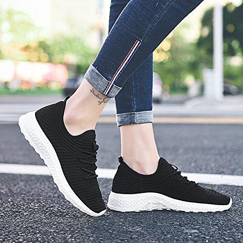 Lacets Respirant Sneakers Lger Formateurs Femmes Marche 2116 Noir De Tiosebon Gymnase Sport Pour qxwYWX4wgf