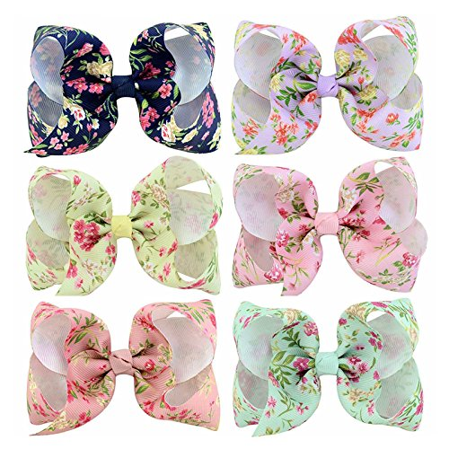 Baby Girl Bowkont Hair Bow - Alligator Clips 6Pcs Grosgrain for sale  Delivered anywhere in Canada