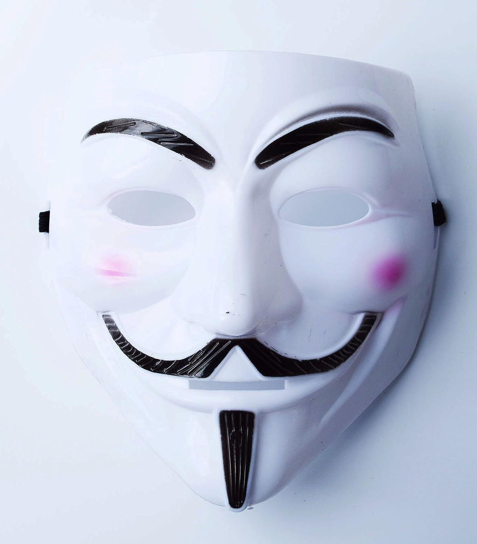 Halloween mascarilla cara plástico blanco V VENDETTA Purge ...