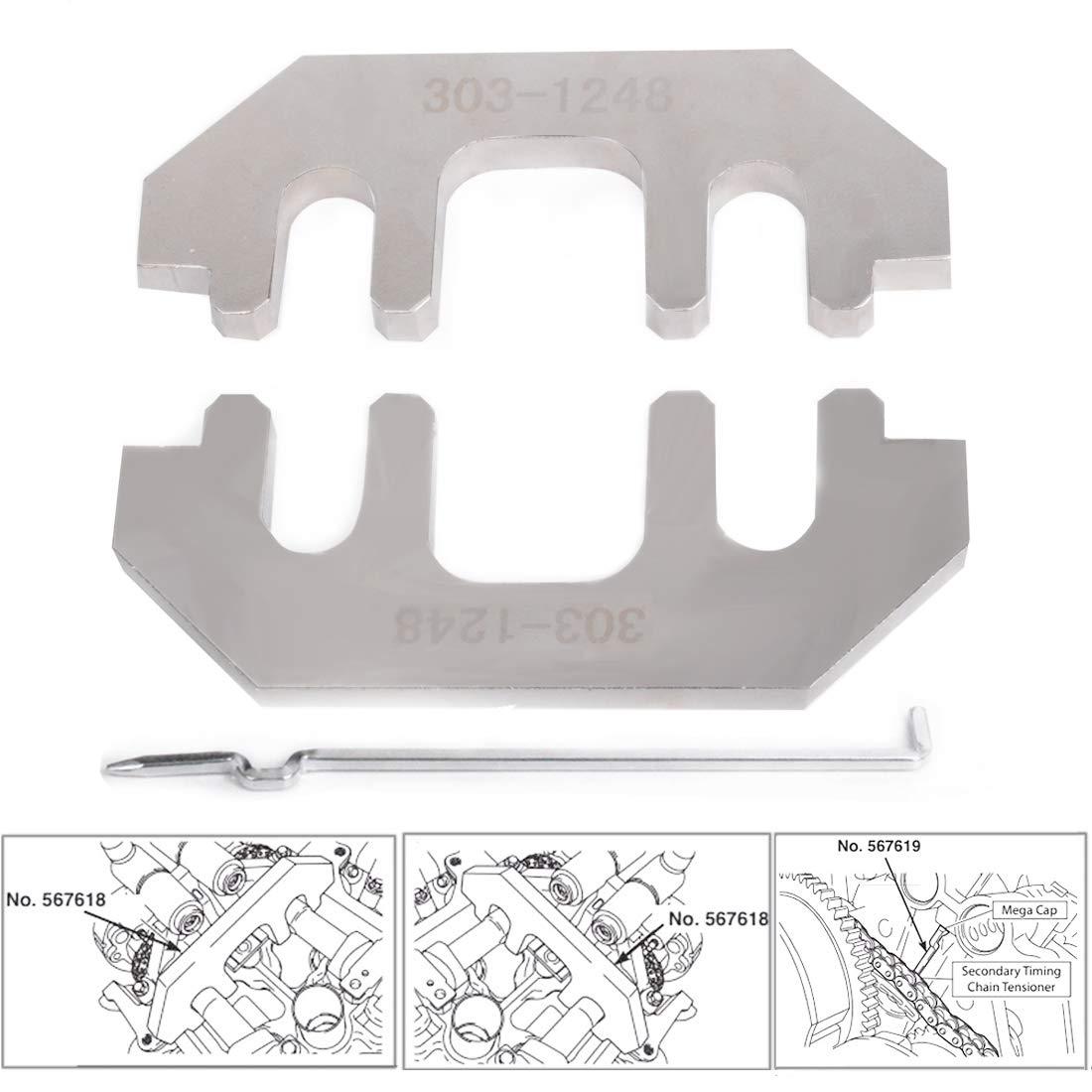 TOPNEW Cam Tool Holding Set Camshaft Holder 303-1248 for Ford 3.5L 3.7L