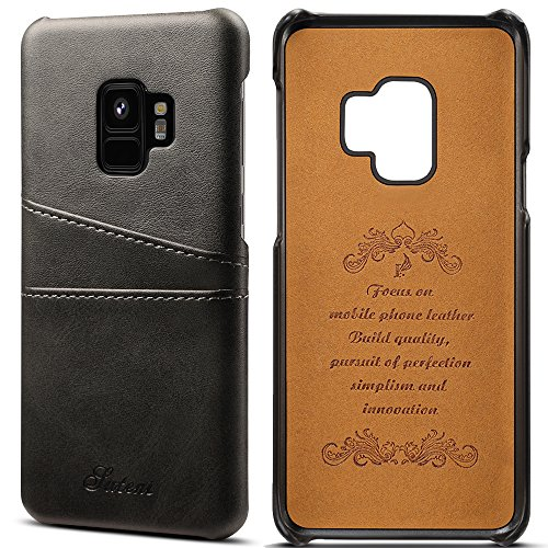 Samsung Galaxy S9 Plus Soft Leather Wallet Phone Case Ultra Slim Protective Cover with Card Holder, - Leather Phone Fire Case Wallet