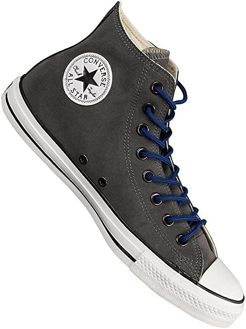 Converse Damen Schuhe All Star Hi Suede Grau 132119C Chucks