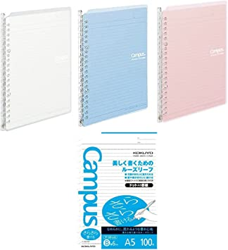 A5-20 Rings Office Product Kokuyo Campus Smart Ring Binder Light Blue