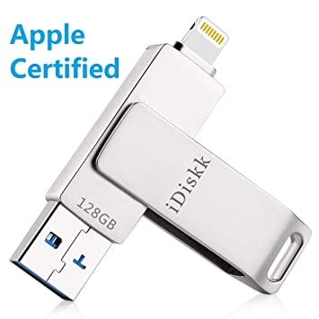 128GB Memoria Flash USB 3.0 para iPhone y iPad [Certificado MFI] Pendrive iPhone iPad OTG Flash Drive para iOS PC Macbook Ordenador: Amazon.es: Electrónica