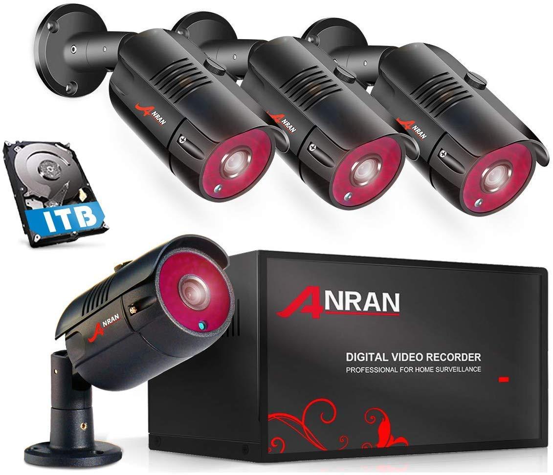 ANRAN 4CH DVR Kit Cámaras de Videovigilancia 1080N AHD DVR ...