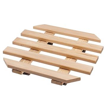 Soporte con ruedas para maceteros 35 x 35 cm - Soporte de madera con 4 ruedas para maceteros: Amazon.es: Hogar