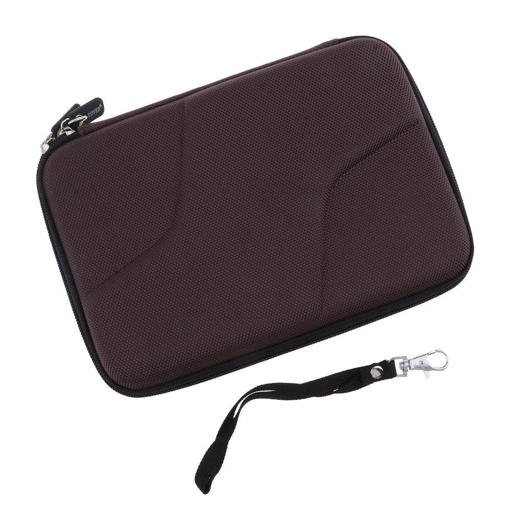 Baosity EVA Shockproof Carrying Travel Case for 2.5-Inch Portable External Hard Drive for Seagate Expansion,Canvio Basics, Silicon Power, GPS Camera and External Battery Pack,Brown