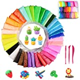 SIMUER 36 Pack Modeling Clay Fluffy Slime, 36 Colors DIY Soft Magic Clay Craft Air Dry Plasticine Ultra-light Modeling…