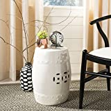 Cheap Safavieh Castle Gardens Collection Modern Ming Cream Ceramic Garden Stool