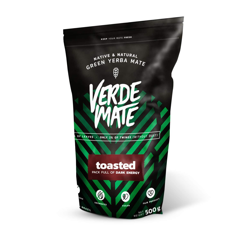 Yerba Verde Mate Tostada 500g | Verde Mate Toasted | Yerba Mate de Brasil | Alta calidad | Yerba mate fuertemente estimulante | Sin gluten: Amazon.es: ...