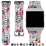 Allbingo Fitbit Ionic Accessory Bands, Manly Case Women Cute Strap Rugged Pro G-shock Like Protective Wristband for Fitbit Ionic Smartwatch
