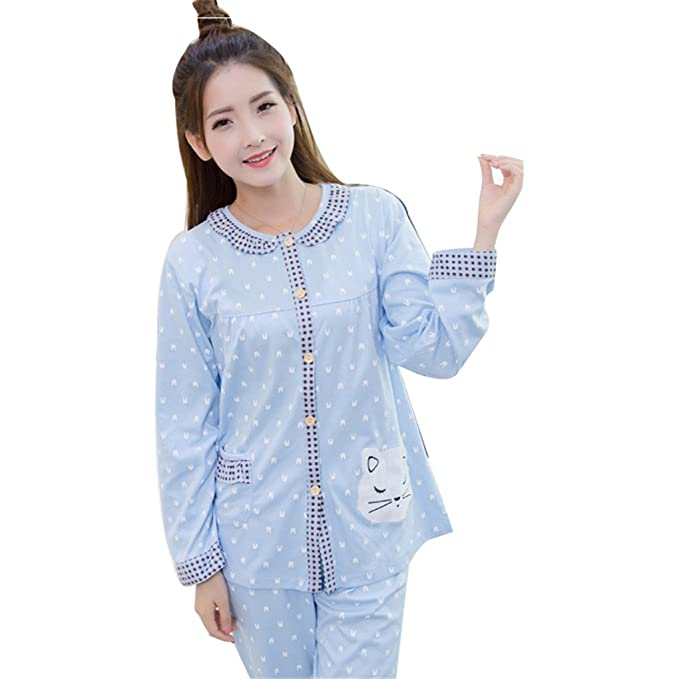 Naughtyspicy - Pijama - para mujer Blau / Kaninchen XXL