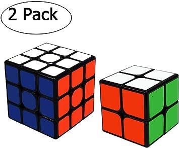 Maomaoyu Cubo Magico de la Velocidad Set, Cubo 2x2 3x3 ,Caja de Regalo de 2 Piezas Set Negro: Amazon.es: Juguetes y juegos