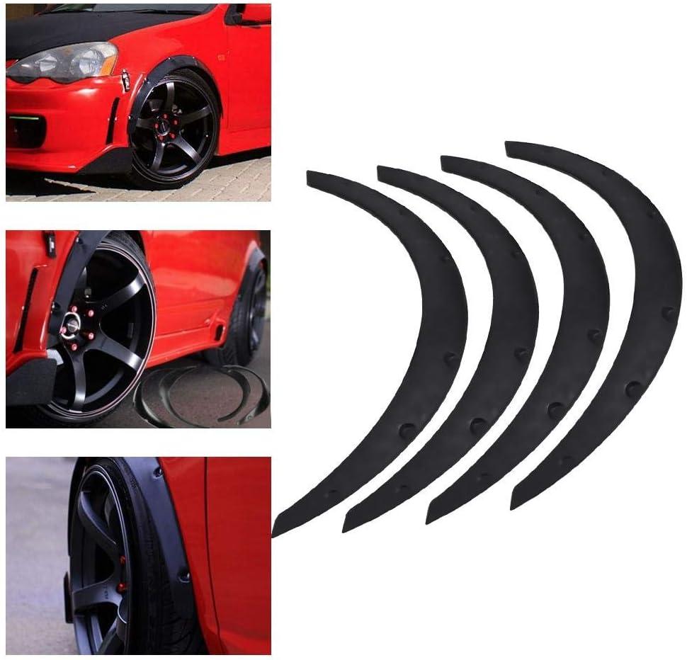 4 pezzi fuoristrada per auto flessibile Arco di parafango universale protezione per sopracciglia di ruota SUV