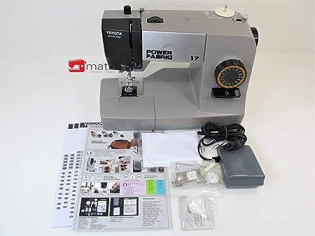 Toyota Power fabriq – Máquina de Coser (Brazo Libre 17 programas, para Extra Grueso Material, Incluye Soporte y ...