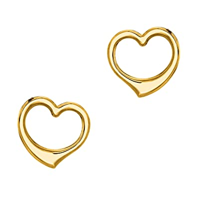 06302ffdf Image Unavailable. Image not available for. Color: Ritastephens 14k Yellow  Gold Open Heart ...