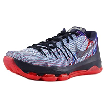 more photos 779fd ef064 NIKE Mens KD 8 Soar/Midnight Navy-Bright Crimson Fabric
