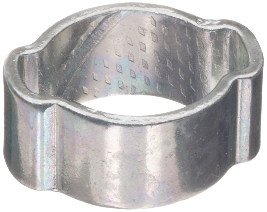 Dixon 1720 Zinc Plated Steel Pinch-On Double Ear Clamp, 3/4'' Hose ID, 0.638'' - 0.787'' Hose OD Range (Pack of 100)