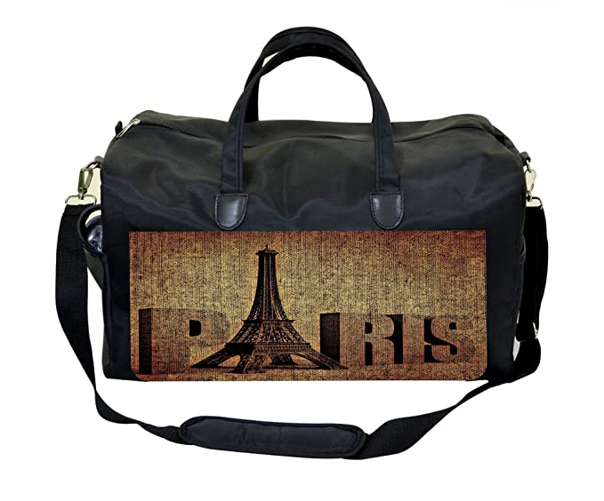 Image Unavailable. Image not available for. Color  Grunge Paris Print Weekender  Bag 4e320c8487
