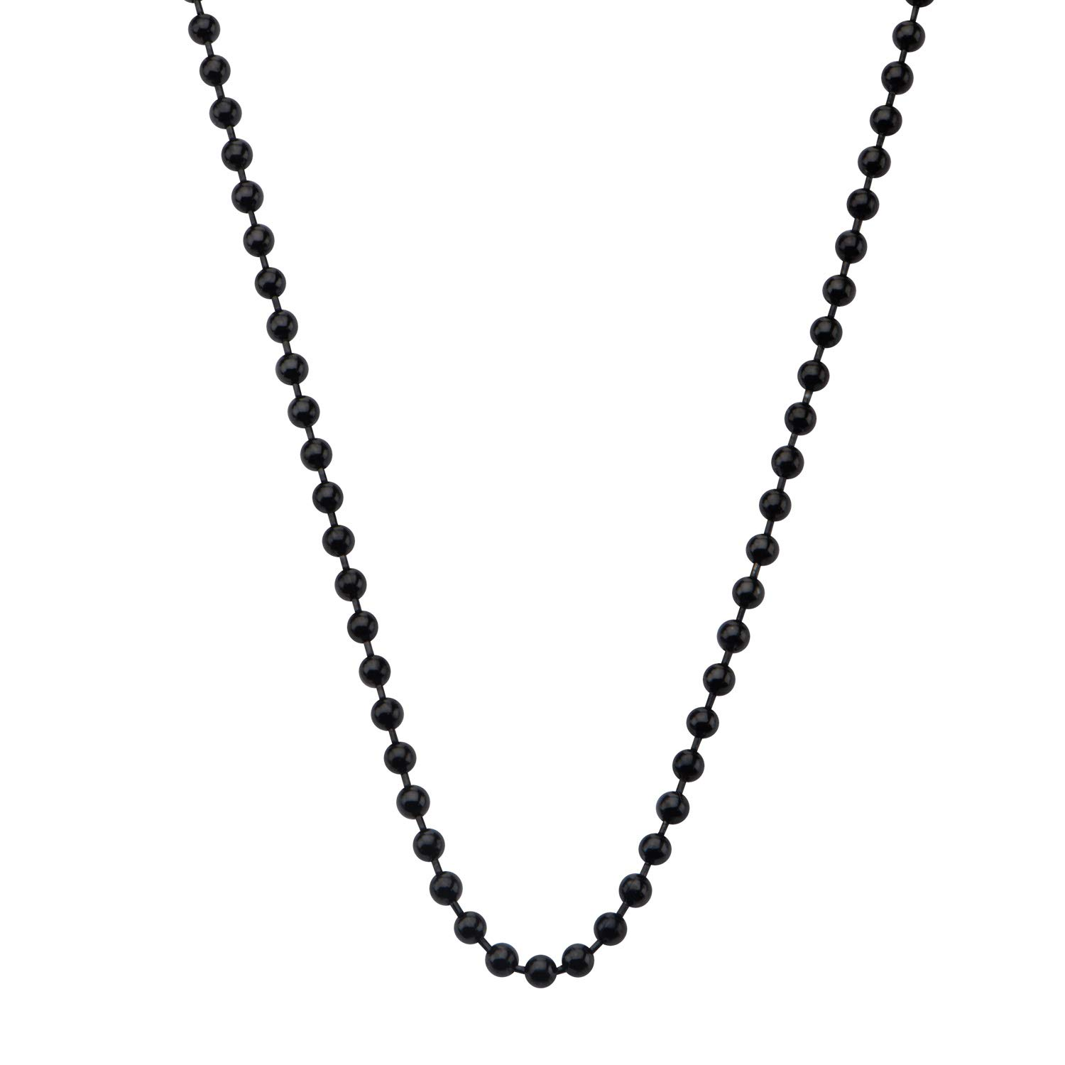 INOX Stainless Steel Super Black IP Polished 3mm Ball Chain