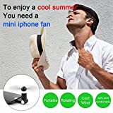 Rotating iphone fan, portable mini fan with 8-pin