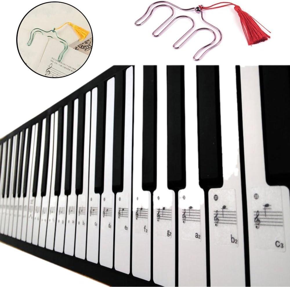 niceeshop (TM) teclado de Piano pegatinas para 49 61 76 88 ...