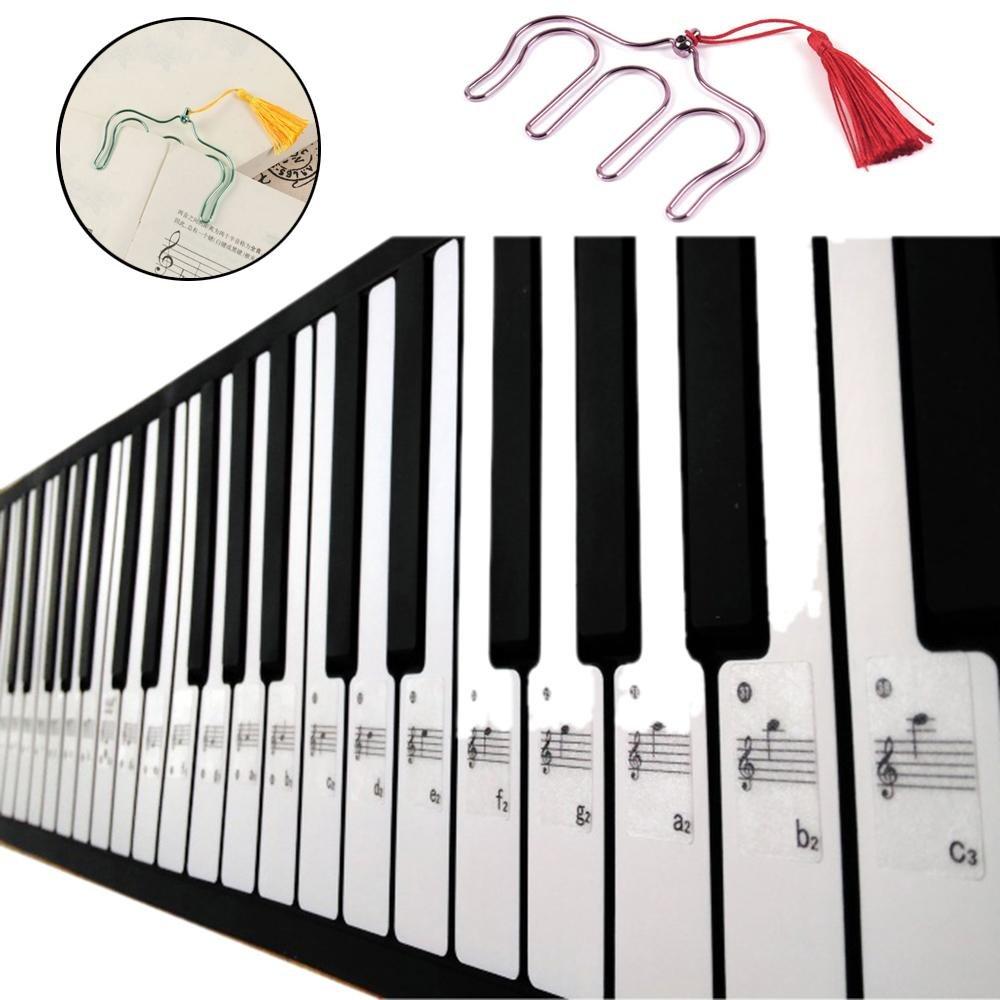 tastiera di pianoforte adesivi per 49/61/76/88/chiave tastiere Niceeshop TM Clip+Stickers