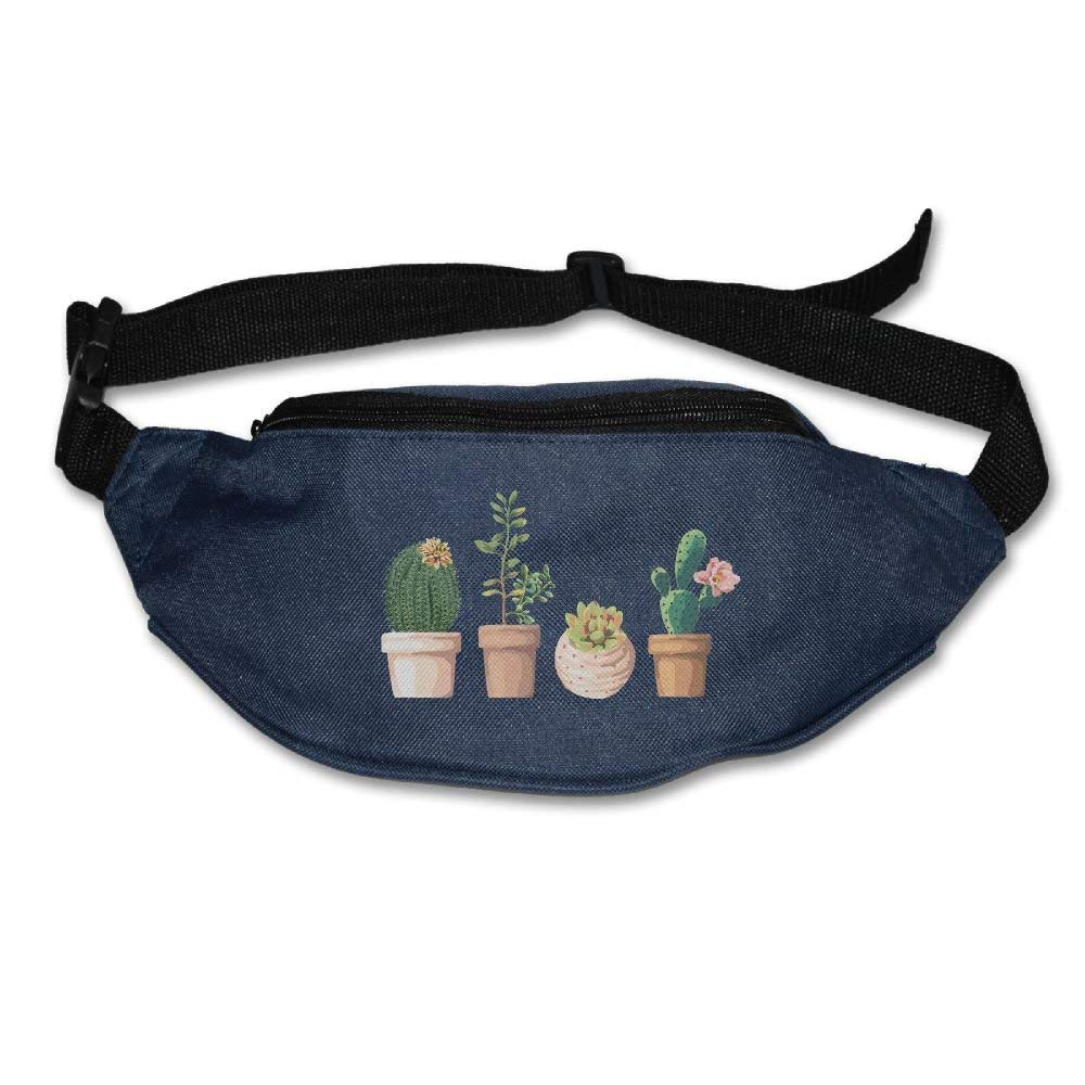 xjh558798 Popular Cactus Watercolor Wallets ort Pouch Waist Packs Hip Pack Bum