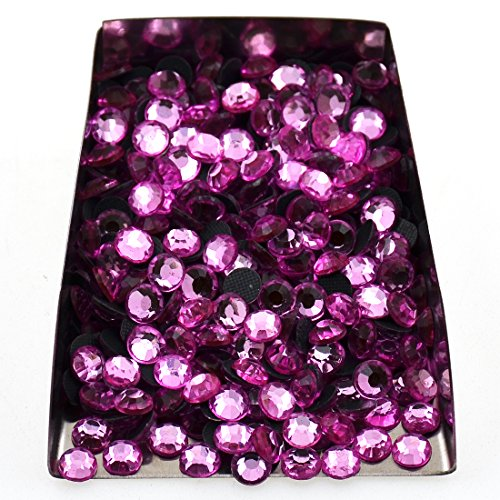(1440pcs Hotfix Quality Crystal Rhinestones Flatback Nail Art Pick Color (Light Rose, SS20))