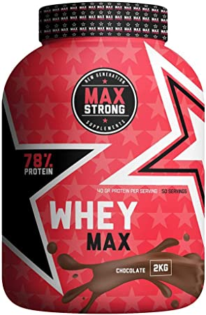 PROTEIN WHEY MAX 2Kg CHOCOLATE MAX STRONG ...
