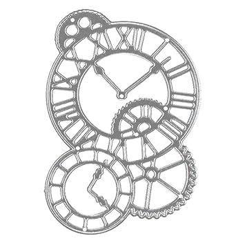 Amazon.com: Stencil ZTY66, Metal Clock Cutting Dies Cut Dies ...