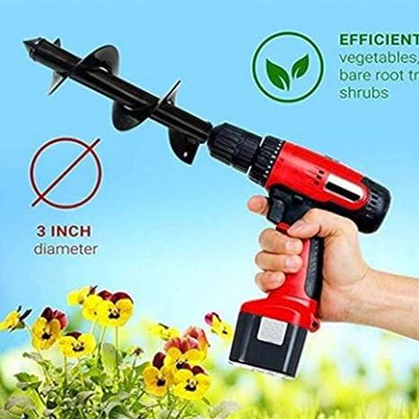 Remplacement pour lessence Perceuse /électrique Marteau du Sol Auger Terre Foret Planteur Jardin Auger Trou Digger t/ête