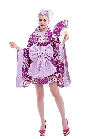 813afaaea0 Las mujeres Kimono japonés lolita cosplay sakura Printed Anime disfraz -  Rosado -   Amazon.es  Ropa y accesorios