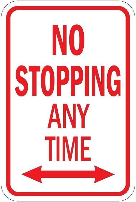 HNNT - Señal metálica (20 x 30 cm), diseño con Texto No Stopping ...