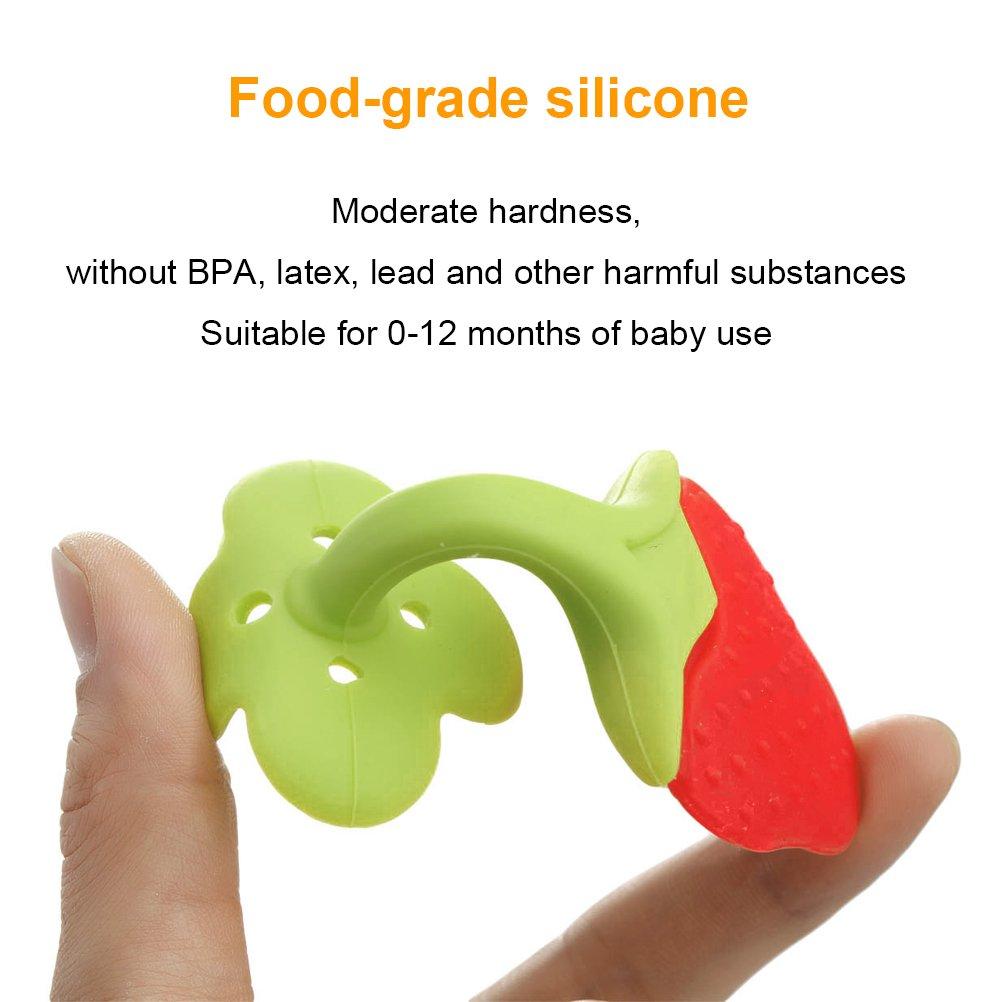 Amazon.com: 5 pcs bebé dentición Juguetes, frutas dentición ...