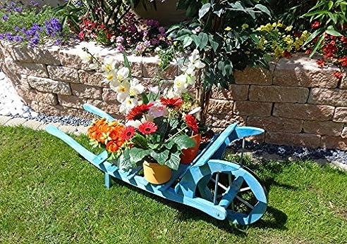 Süße Schubkarre Holz, Gartendeko Karre zum Bepflanzen, Blumentöpfe ...