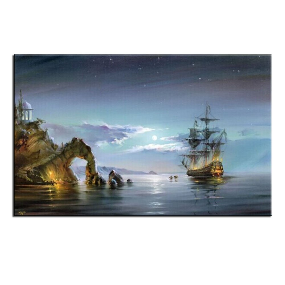 LIUDAO Paint by Numbers for Adults Canvas Diy Oil Painting for Adults Girls Kids Christmas Wooden Framed 16x20 Inch (Wonders of the Sea)