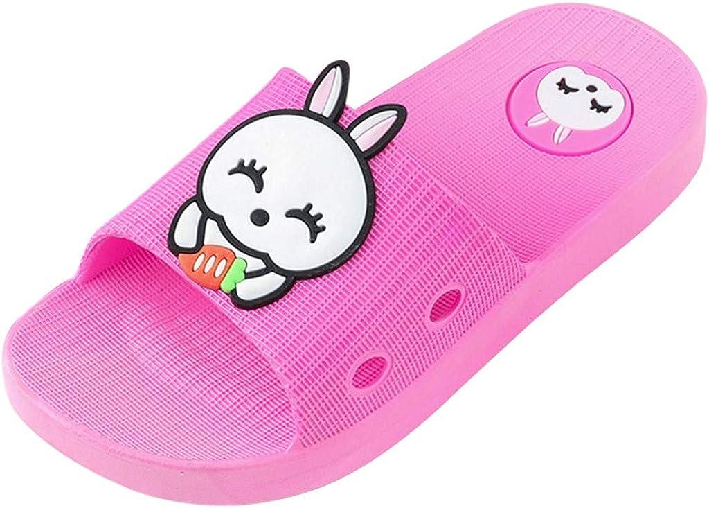 Moneycom - Zapatillas para niños y niñas, diseño de Conejo, Piso, Antideslizantes, para Exteriores, Suaves, Baotou