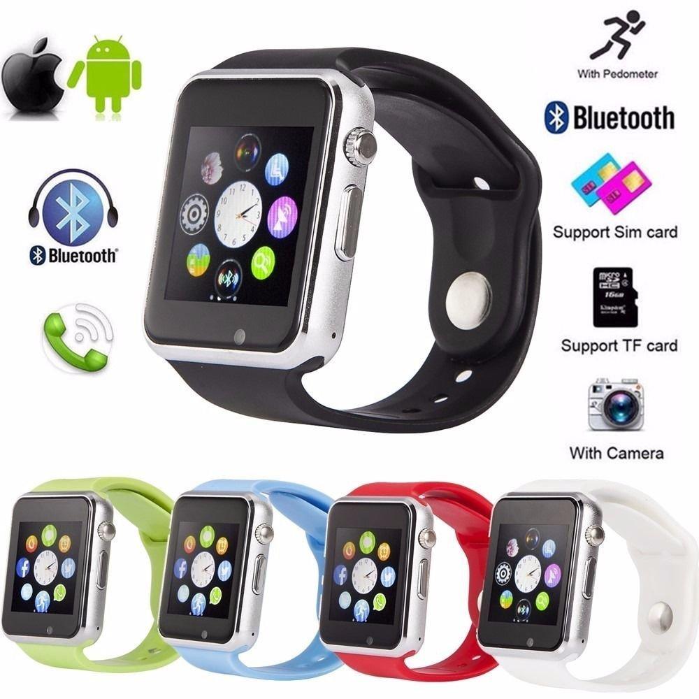 6a988d5fab1 Smartwatch A1 Relógio Inteligente Bluetooth Gear Chip Android iOS Touch Faz  e atende ligações SMS Pedômetro Câmera - PRETO  Amazon.com.br  Celulares e  ...