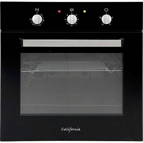 California-Horno eléctrico, 60L, encastrable, color negro: Amazon ...