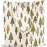 Bolsa de Mano de Compra para Mujer Tela Simple Varios Colores - Patrón de Árboles