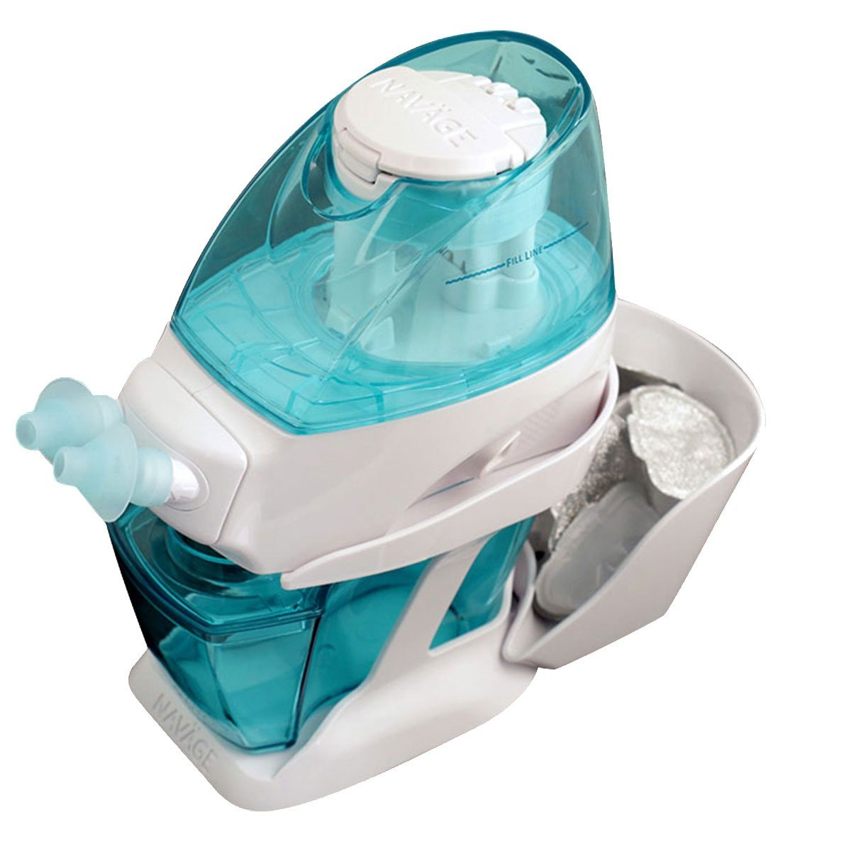 Navage Nasal Irrigation Deluxe Bundle: Naväge Nose Cleaner, 60 SaltPod Capsules, Countertop Caddy, and Travel Case. $160.75 if purchased separately. You save $40.80 (25%) by Navage (Image #6)
