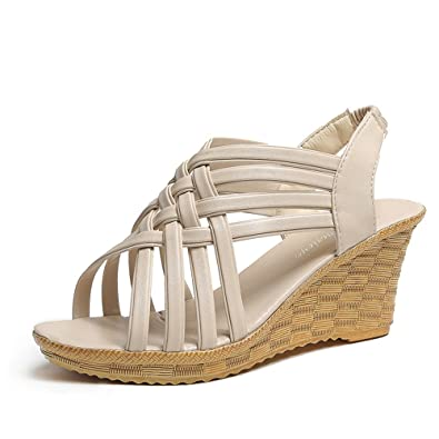 7cc613c25b8 Amazon.com | SUNNY Store Women's Strappy Open Toe Espadrille Wedge ...