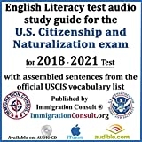 English Literacy test audio study guide for the U.S. Citizenship and Naturalization exam with assembled sentences from the official USCIS vocabulary list